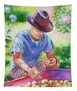 Picking Apples Tapestry