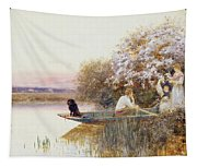Picking Blossoms Tapestry