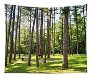 Picnic In The Pines Tapestry