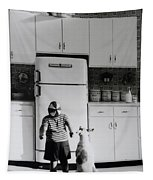 Pie In The Sky In Black And White Tapestry