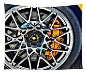 Piece Of Yellow Lamborghini Tapestry