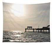 Pier 60  Near Sunset Tapestry