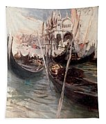 Pier And Saint Marc In Venice Tapestry