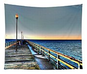 Pier - Chesapeake Bay Bridge #1 Tapestry