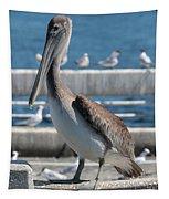 Pier Brown Pelican Tapestry