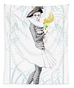Pierrette In Love Tapestry