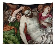 Pieta And Angels Tapestry