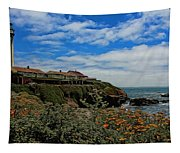 Pigeon Point Lighthouse Painted Tapestry