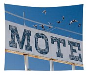Pigeon Roost Motel Sign Tapestry