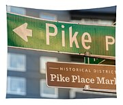 Pike Place Market Sign Tapestry
