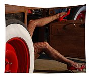 Pin Up Legs In Red Heels  Tapestry
