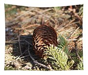 Pine Cone And Small Branch Tapestry