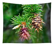 Pine Cone Stages Tapestry