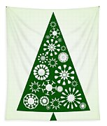 Pine Tree Snowflakes - Green Tapestry