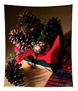 Pinecones Christmasbox Tapestry