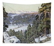 Pines In Winter Tapestry