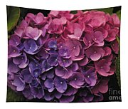 Pink And Blue Hydrangea Tapestry