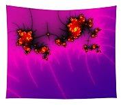 Pink And Purple Digital Fractal Artwork Tapestry