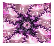 Pink And Purple Soft And Creamy Fractal Art Tapestry