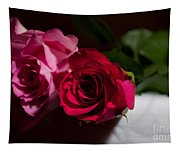 Pink And Red Rose Tapestry