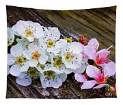 Pink And White 2 Tapestry