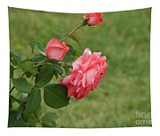 Pink And White Blended Stem Tapestry