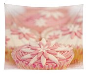 Pink And White Cup Cakes Tapestry