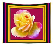 Pink And Yellow Rose Tapestry