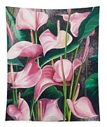 Pink Anthuriums Tapestry