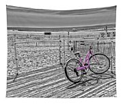 Pink Bicycle Tapestry