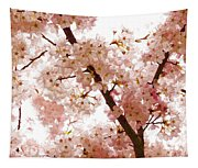 Pink Cherry Blossoms - Impressions Of Spring Tapestry