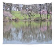Pink Cherry Reflections Tapestry