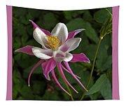 Pink Columbine Flower Tapestry