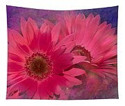Pink Daisies Abstract Tapestry