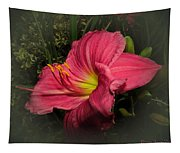 Pink Day Lily Tapestry