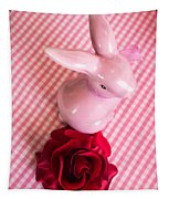 Pink Easter Bunny Decoration Tapestry