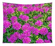 Pink Garden Flowers Tapestry