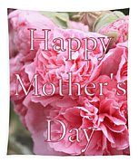 Pink Hollyhock Mother's Day Card Tapestry