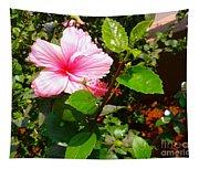 Pink Java Flower  Tapestry