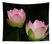 Pink Lotus Duet Tapestry
