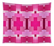 Pink On Pink Panorama 4 Tapestry