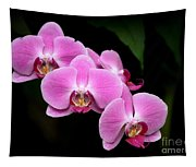 Pink Orchids In A Row Tapestry