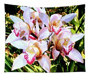 Pink Spirit Orchids Palm Springs Tapestry