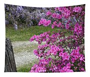 Pink Purple Mississippi Blooms Tapestry