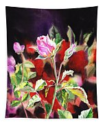 Pink Rose Bloom Tapestry