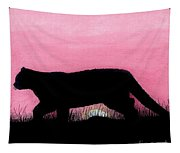 Pink - Sunset - Panther Tapestry