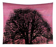 Pink Sunset Tree Tapestry