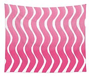 Pink Waves- Abstract Watercolor Pattern Tapestry