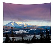 Pink Winter Clouds Tapestry