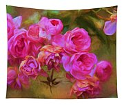 Pink Winter Roses Three Tapestry
